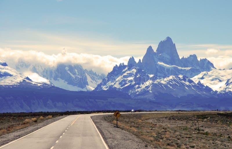 Patagonian landskap i nationalparken Los Glaciales arkivbilder