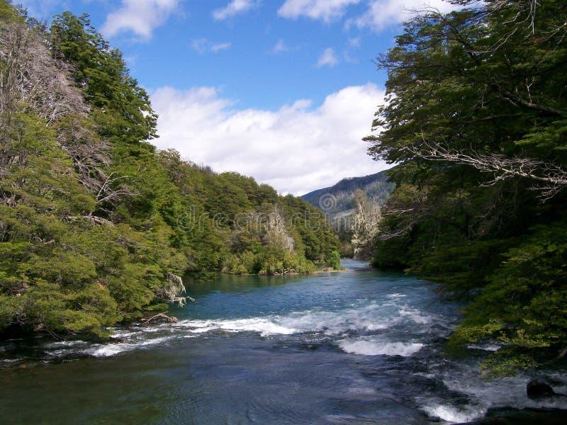 Patagonian rivier Manso stock foto