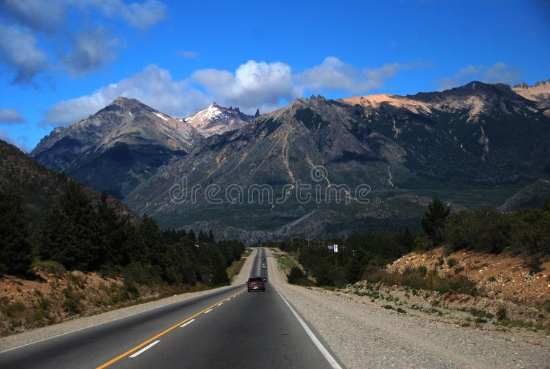patagoniaväg arkivbild