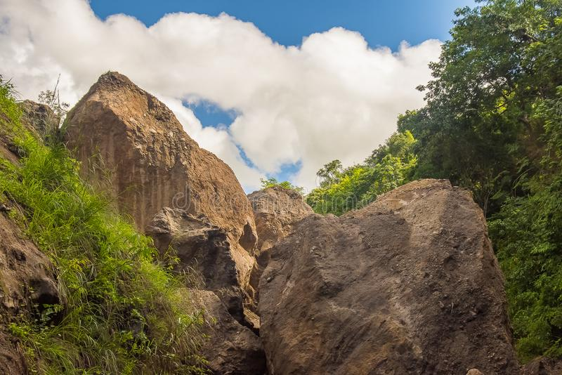 Pataldalingen, Sapang-Rivierbegin stock foto's