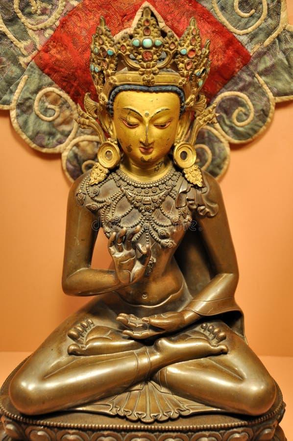 Buddha statua przy Patan muzeum zdjęcia royalty free