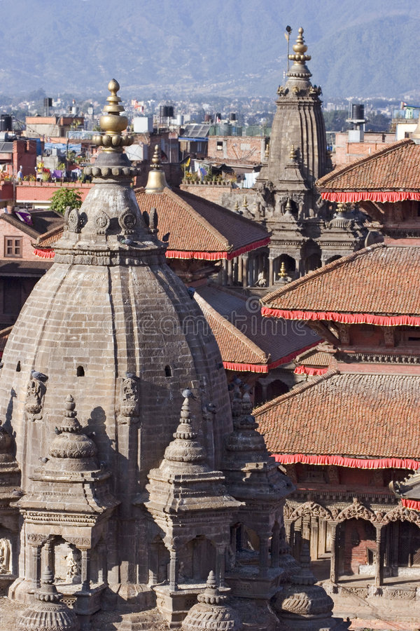 Patan Durbar Square in Nepal stock image