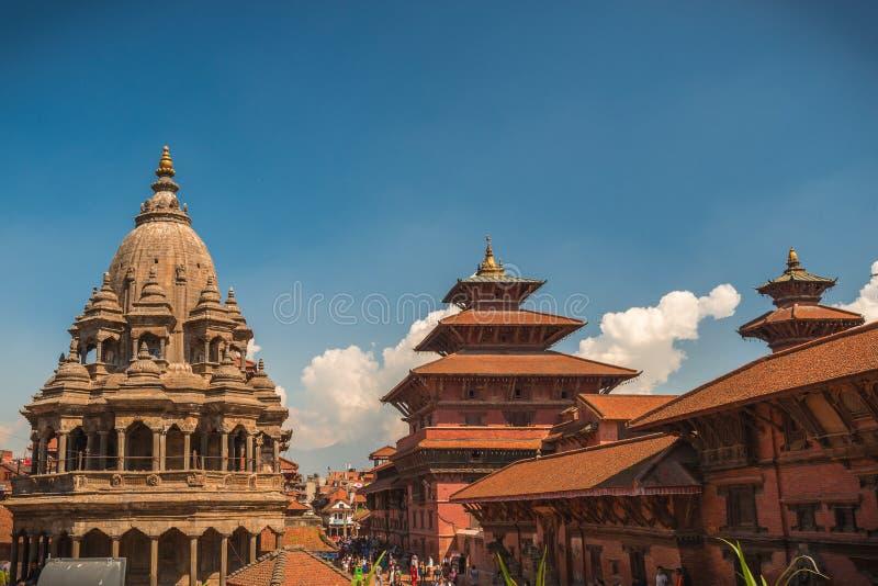 Patan, Lalitpur Metropolitan City, Nepal. Lalitpur Metropolitan City Nepali: historically Patan Sanskrit:Pātan, Newar: Yala, is the third largest city of royalty free stock photo