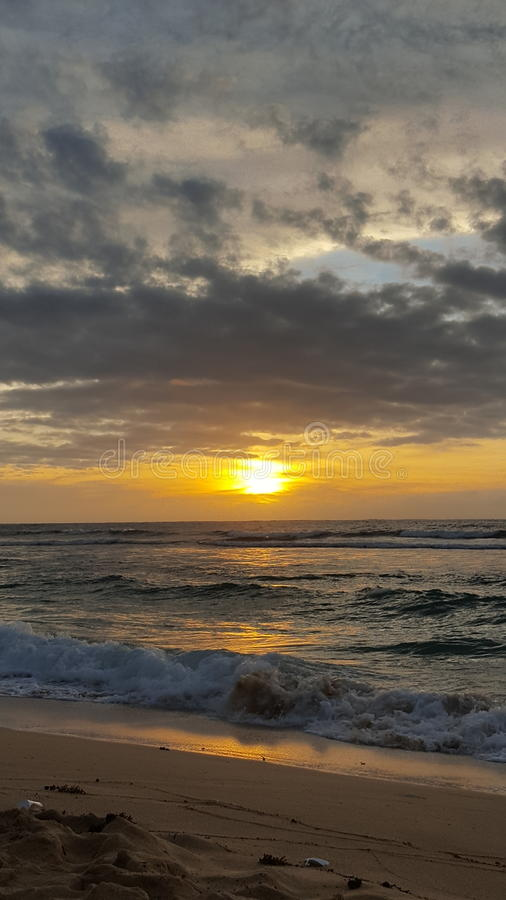 Patar Beach Sunset 3 stock images