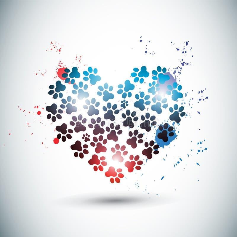 Patas brillantes abstractas del amor libre illustration