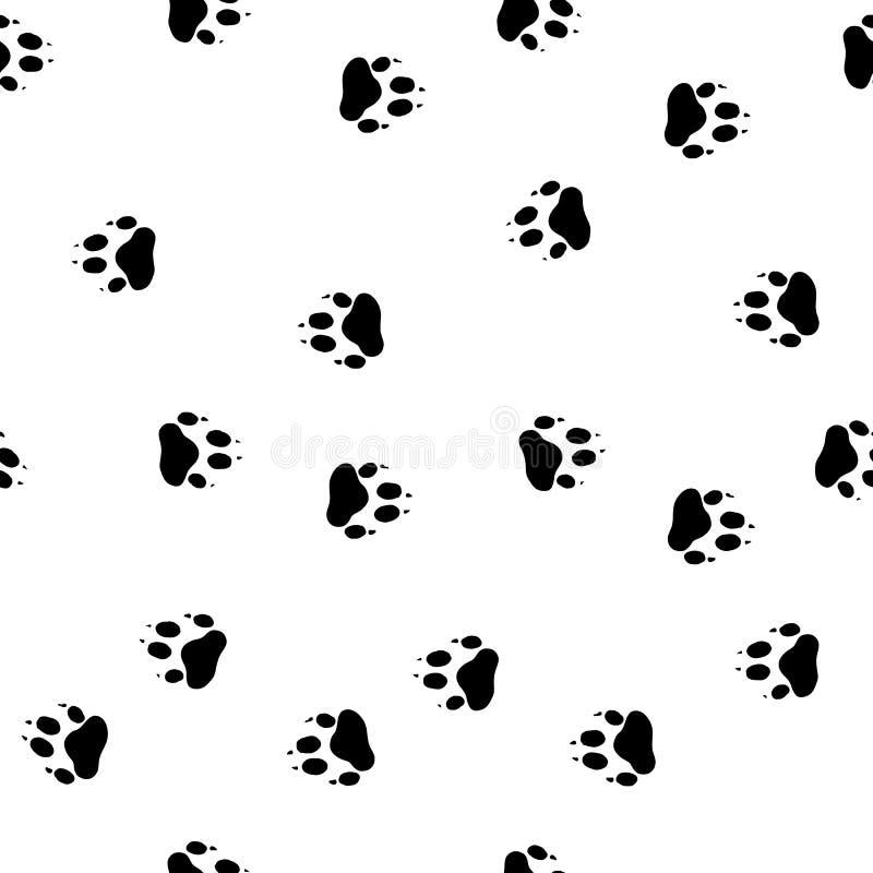 Patas de la huella de un lobo stock de ilustración
