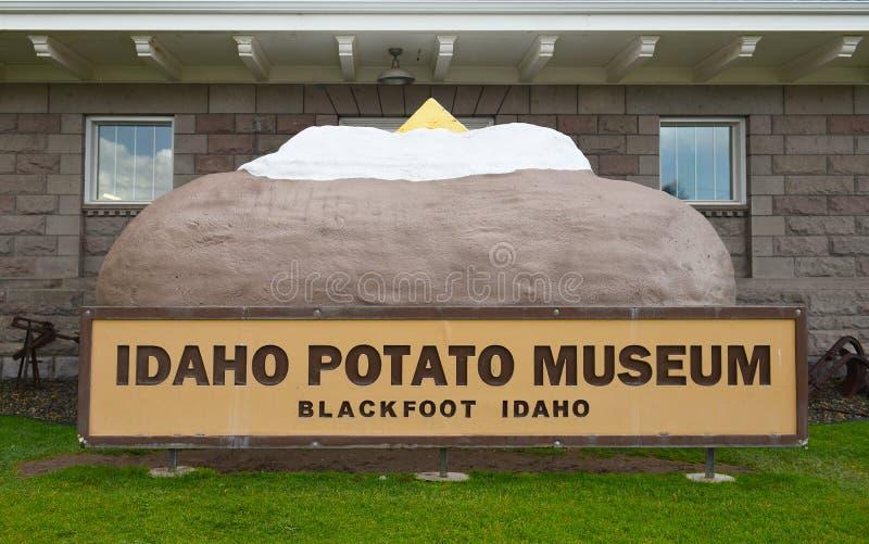Patata al forno gigante fotografia stock