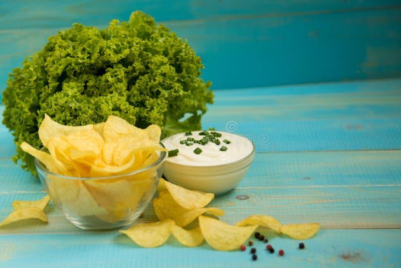 Patata Chips Homemade fotografia stock