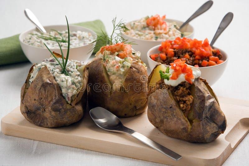 Patata cocida al horno foto de archivo