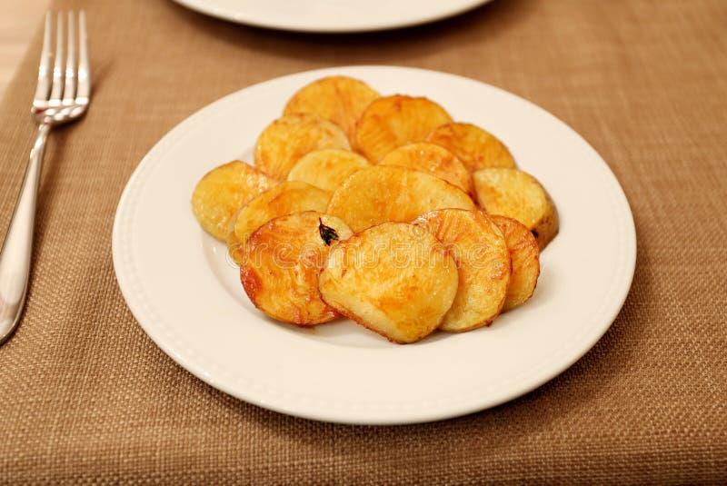 Patata cocida plato fotografía de archivo