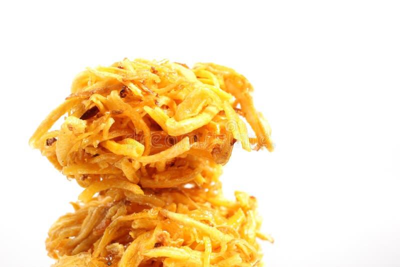 Patata dolce fritta dessert tailandese immagini stock