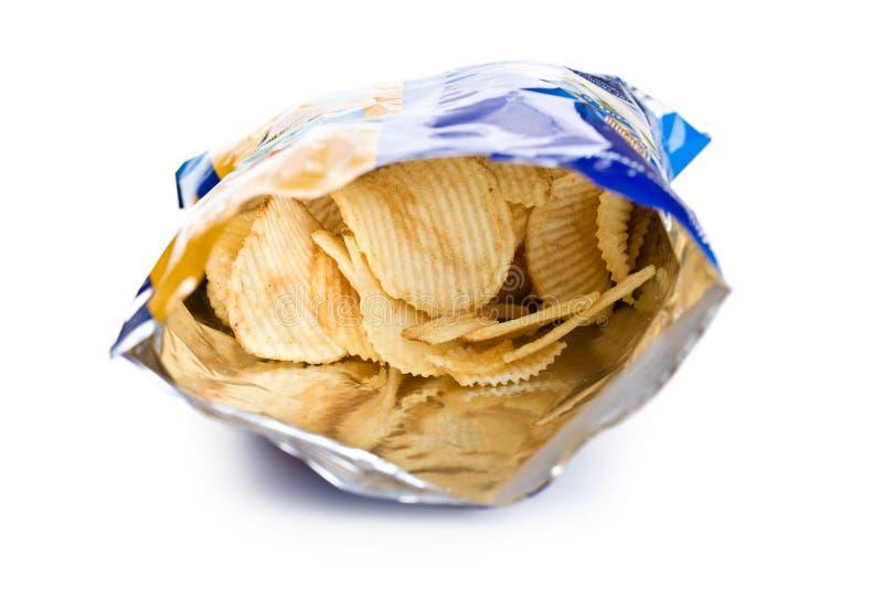 Patata frito adentro el bolso fotos de archivo