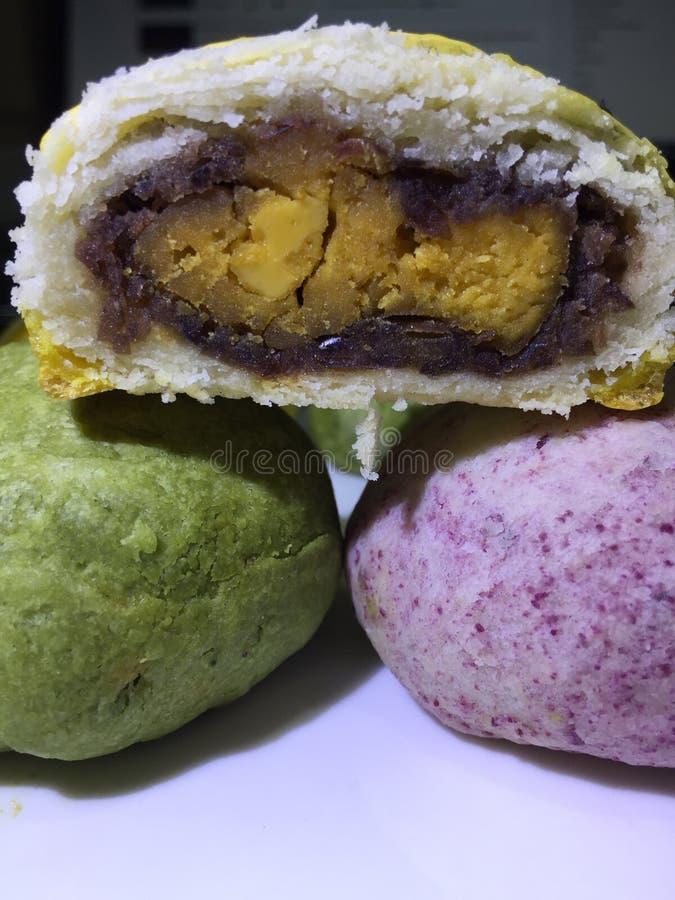 Patata a la inglesa deliciosa de la yema de huevo fotos de archivo libres de regalías