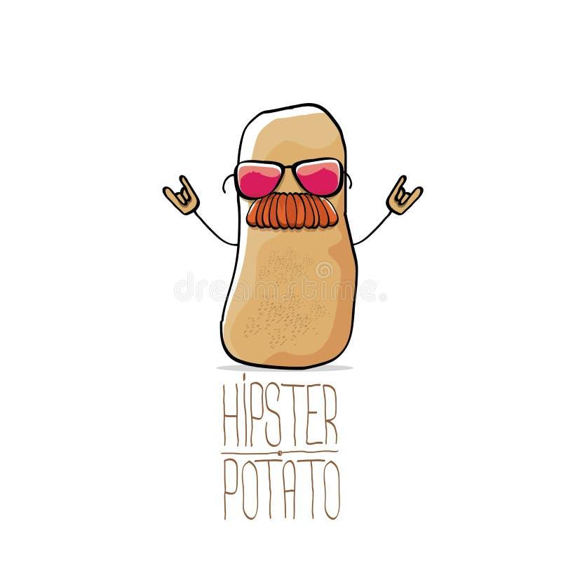 Patata marrón linda del inconformista de la historieta divertida del vector libre illustration