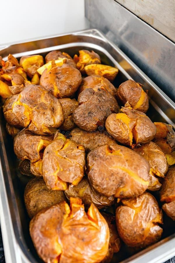 patatas cocidas conjunto fotografía de archivo