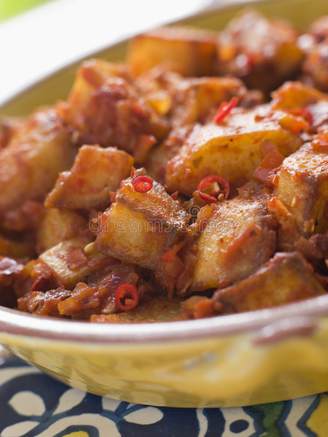 patatas de bravas photo stock