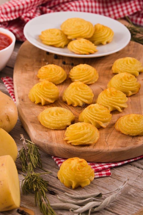 Patatas de la duquesa fotos de archivo libres de regalías