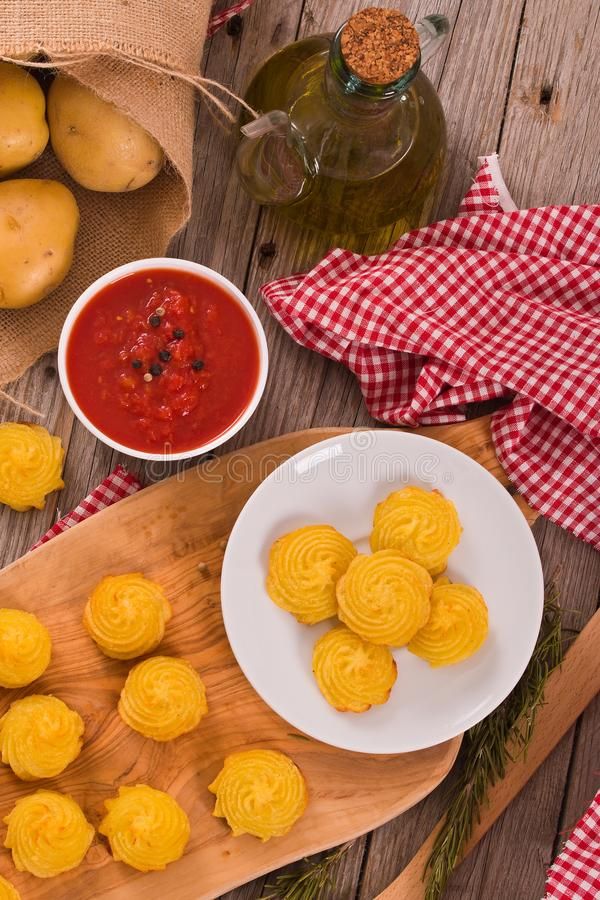 Patatas de la duquesa fotografía de archivo
