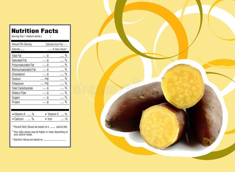 Patatas dulces stock de ilustración