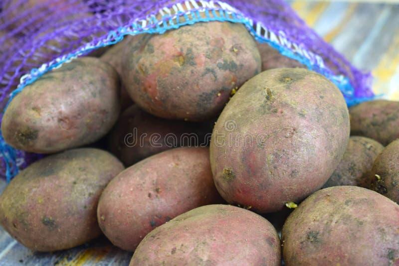 Patatas frescas en una rejilla imágenes de archivo libres de regalías