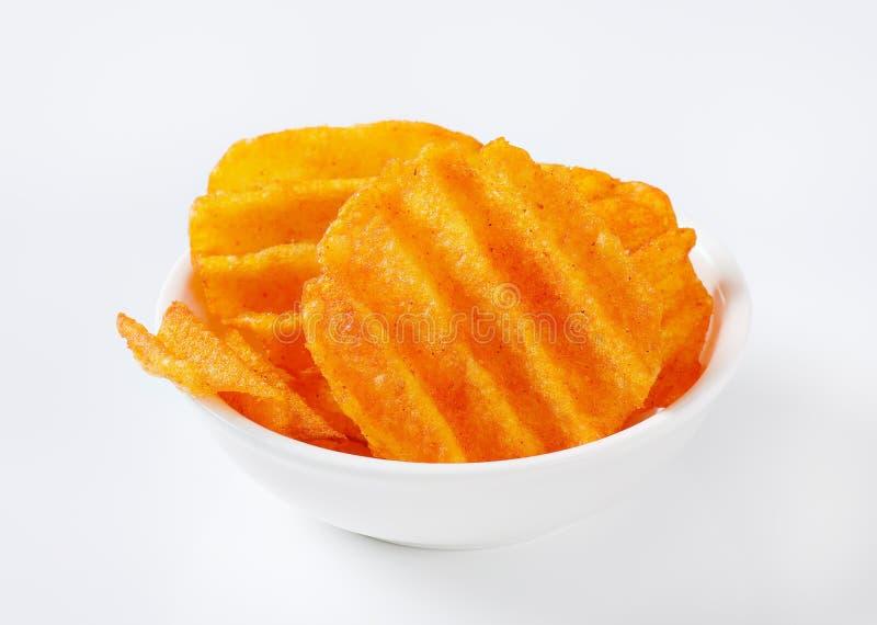 Patatas fritas fritas fotografía de archivo