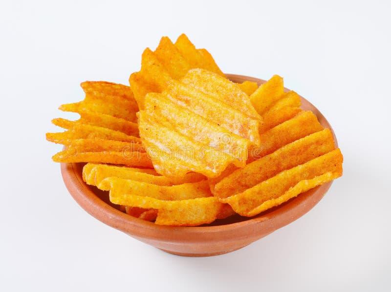Patatas fritas fritas foto de archivo