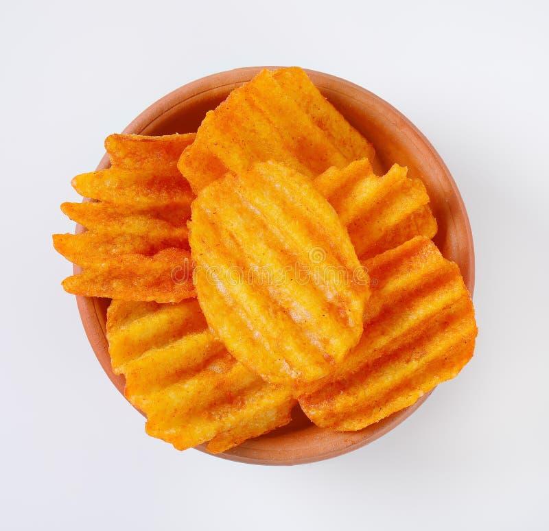 Patatas fritas fritas imagen de archivo libre de regalías
