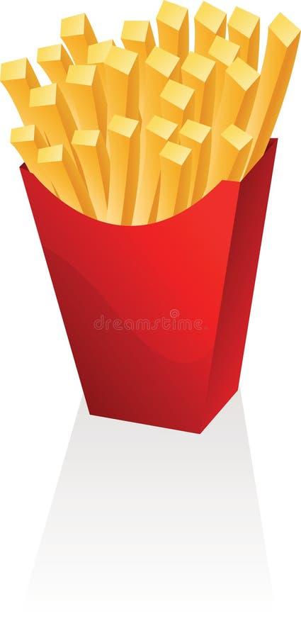 Patatas fritas ilustración del vector