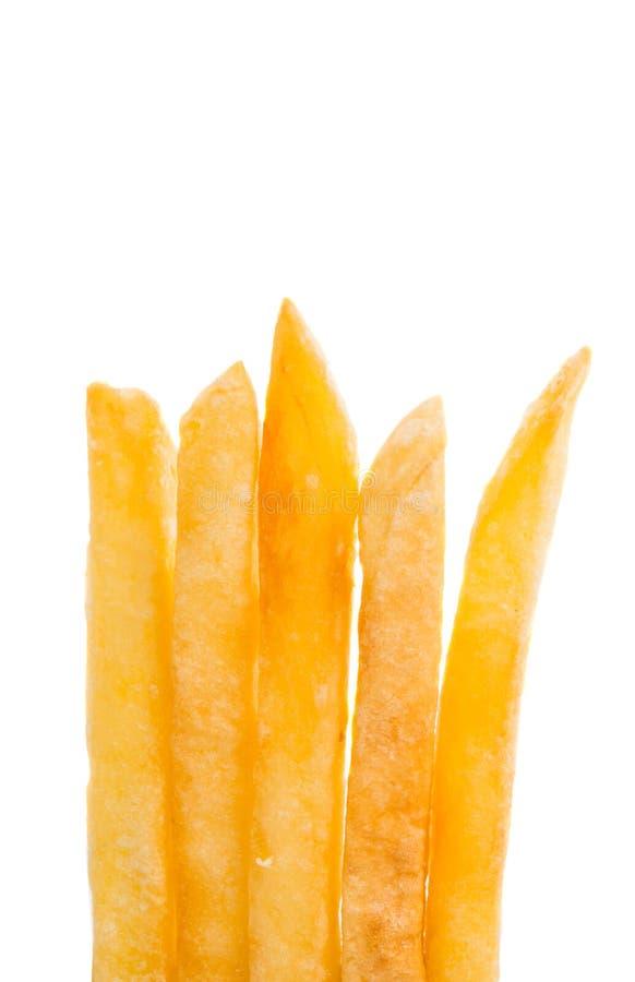 Patatas fritas aisladas fotografía de archivo libre de regalías