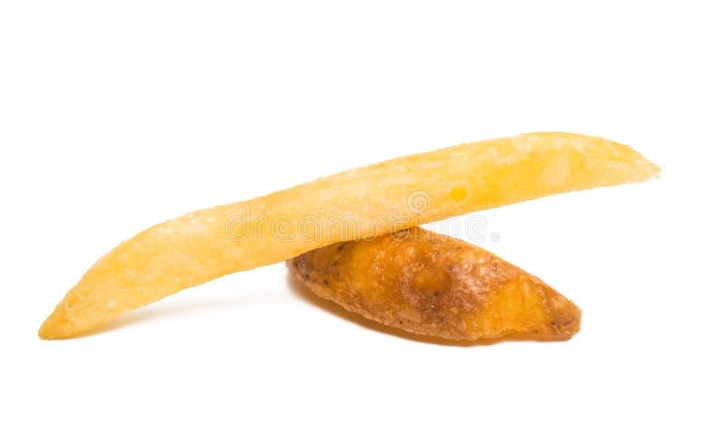 Patatas fritas aisladas fotos de archivo libres de regalías