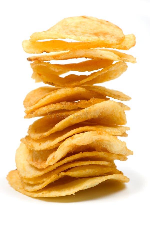 Patatas fritas aisladas en blanco fotografía de archivo libre de regalías