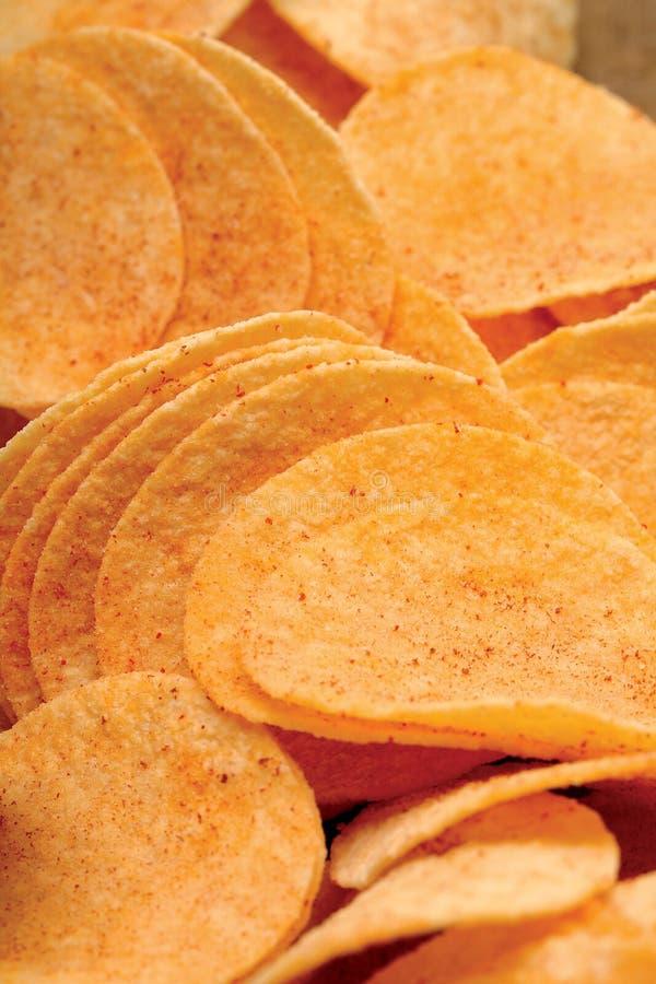Patatas fritas apretadas Salado y crujiente imagenes de archivo