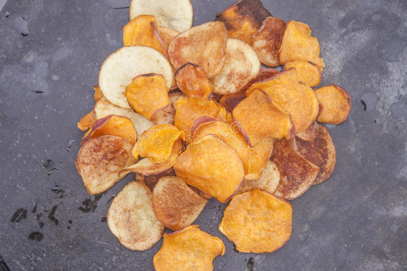 Patatas fritas dulces foto de archivo