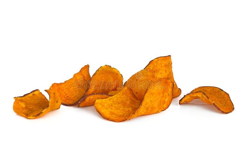 Patatas fritas dulces sobre blanco fotografía de archivo libre de regalías