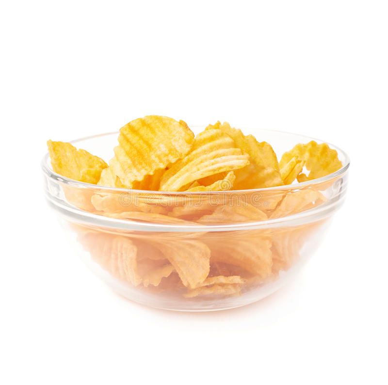 Im genes comunes del patatas fritas en el bol de vidrio - Bol de vidrio ...