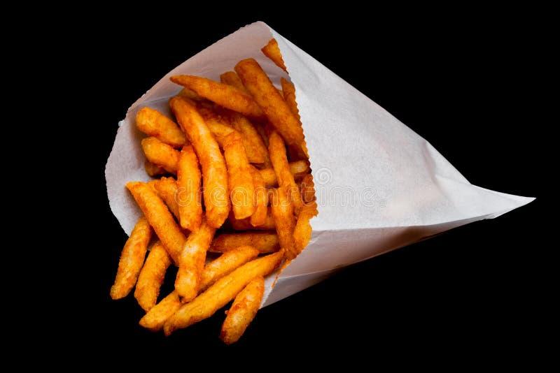 Patatas fritas meridionales en envase de la bolsa de papel imagen de archivo libre de regalías