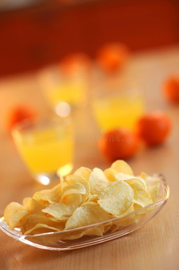 Patatas fritas para el bocado fotos de archivo