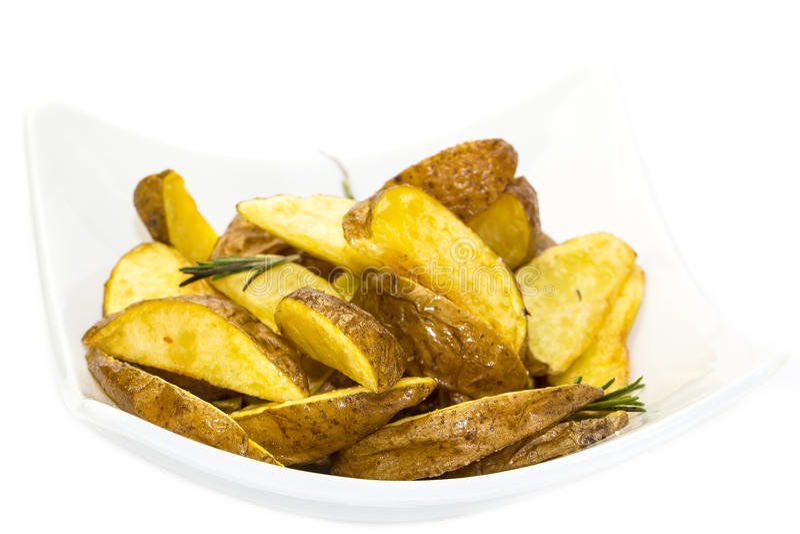 Patatas horneadas a la crema y con pan rallado fotografía de archivo libre de regalías