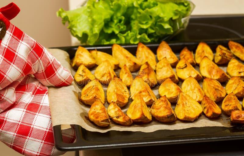 Patatas Horno-cocidas foto de archivo