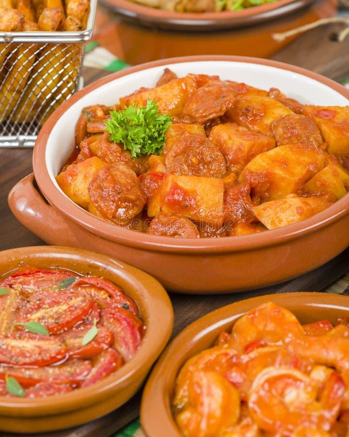 Patatas une La Riojana photo stock