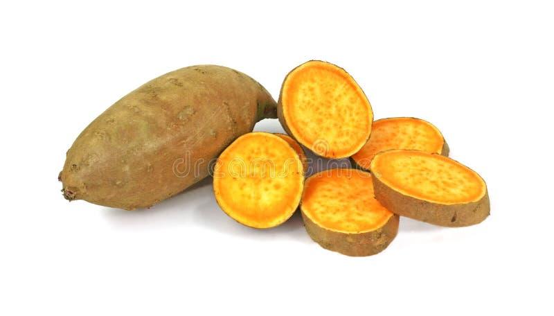 Patate douce et parts photographie stock