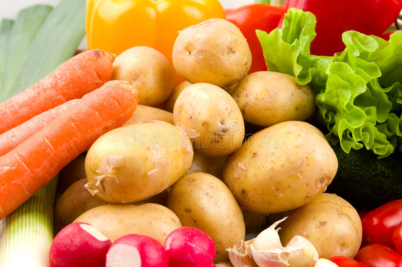 Patate ed altre verdure immagine stock libera da diritti