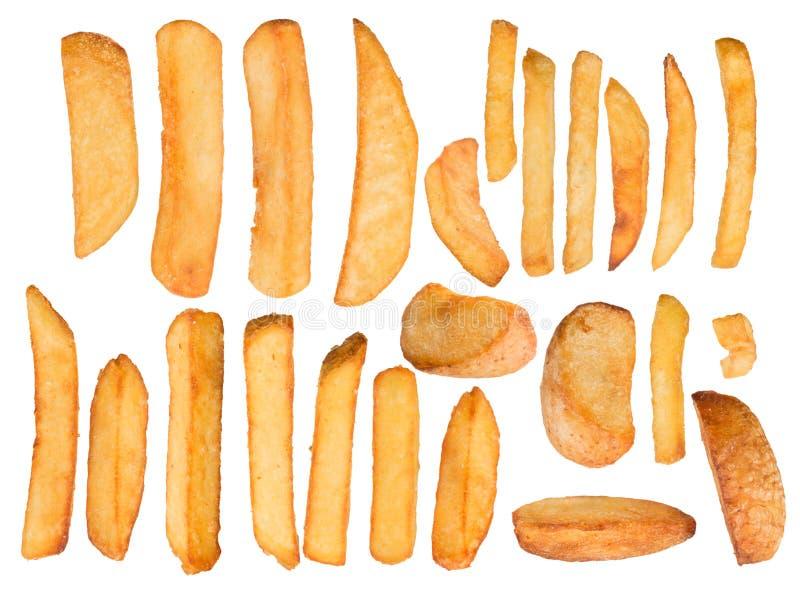 Patate fritte nel moto della gelata illustrazione di stock
