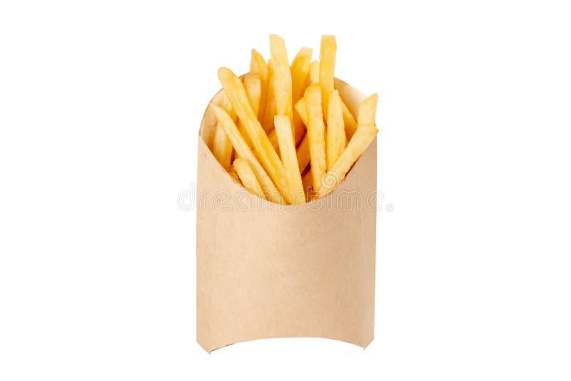 Patate fritte su fondo isolato bianco immagine stock