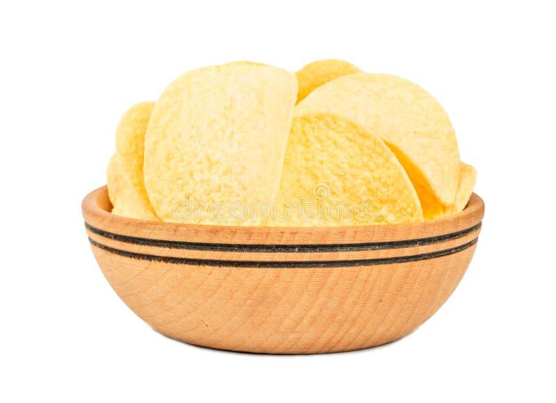 Patatina dentro la ciotola immagine stock