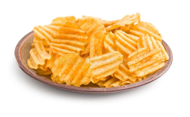 Patatine fritte del taglio della piega immagini stock libere da diritti