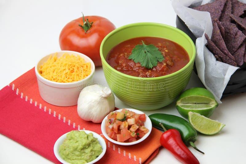 Patatine fritte e salsa fotografie stock