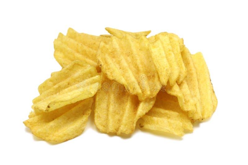 Patatine fritte leggermente scanalate in immagini stock libere da diritti
