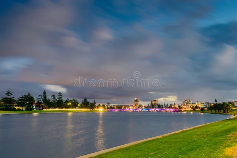 Patawalonga See in Glenelg lizenzfreie stockfotografie