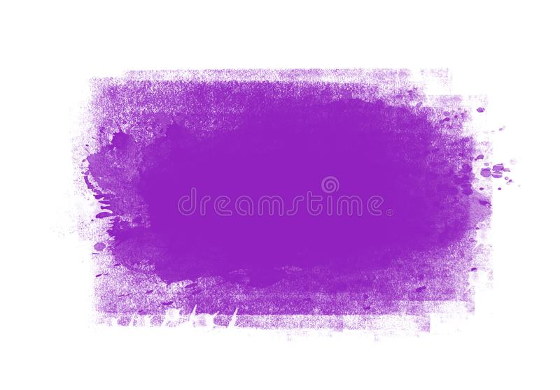 Patches water color graphic color brush strokes patches. Purple water color graphic color brush strokes patches effect background stock photos